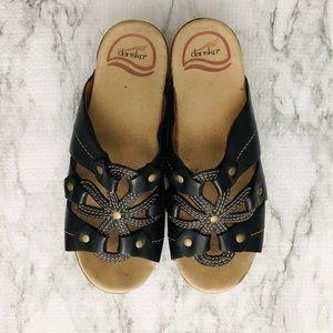 Dansko Serena Platform Leather Sandals